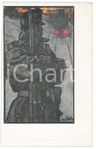 1915 ca WW1 Artist Ignaz STOLZ Kriegsfürsorgeamt Bozen-Gries - Cartolina FP NV