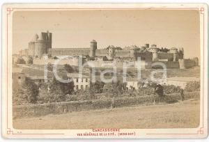 1880 ca CARCASSONNE (FRANCE) Vue générale de la cité - Château *Photo 16x11 cm