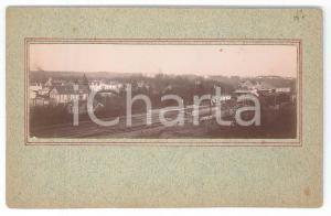1897 MELUN (FRANCE) Vue avec le chemin de fer - Photo VINTAGE 13x9 cm