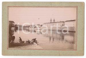 1897 MELUN (FRANCE) Vue de la Prison Centrale - Lavandières - Photo VINTAGE 13x9