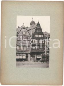 1890 ca GERMANY Square with mirror shop - Spiegelfabrik - VINTAGE Photo 18x24