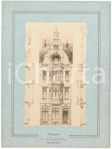 1900 ca BRUXELLES Architecte Guillaume LOW Maison
