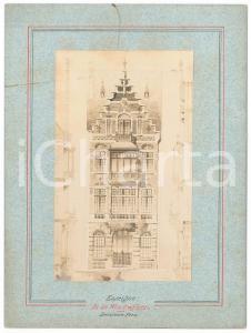 1900 ca BRUXELLES ARCHITECTURE Maison