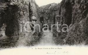 1917 FRANCE - WW1 Le Boyau d'accès au Bois en Hache - Carte Postale FP NV