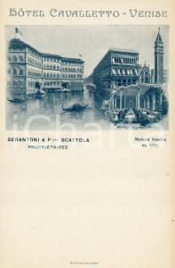 1900 ca VENEZIA Hotel Cavalletto - Cartolina ILLUSTRATA FP NV