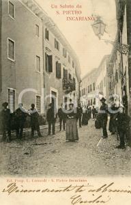 1900ca SAN PIETRO IN CARIANO (VR) Veduta del paese - Cartolina DANNEGGIATA FP VG