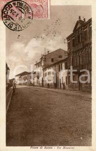 1925 PIOVE DI SACCO (PD) Via Padova - Cartolina animata FP VG