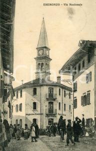 1927 ENEMONZO Via Nazionale - Magazzino consumo ARRIGONI E STRADIOTTO Cartolina