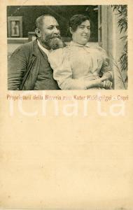 1900 ca CAPRI Proprietari della birreria ZUM KATER HIDDIGEIGEI Cartolina FP NV