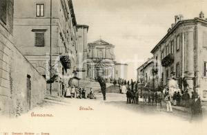 1905 ca GENZANO DI ROMA Strada - Panorama *Cartolina ANIMATA FP NV