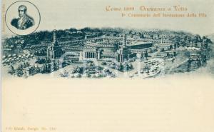 1899 COMO Onoranze ad Alessandro VOLTA 1° Centenario invenzione pila - Cartolina