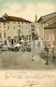 1906 VALDAGNO (VI) Via Principe Umberto - Cartolina ANIMATA FP VG