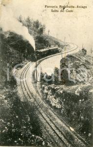 1914 FERROVIA ROCCHETTE - ASIAGO Salita del Costo - Cartolina FP VG