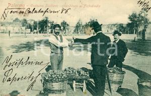 1902 PALERMO Venditore di fichi d'India - Costume siciliano - Cartolina FP VG