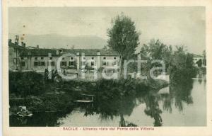1926 SACILE Fiume Livenza visto dal Ponte della Vittoria - Cartolina ANIMATA FP