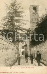 1905 TREVISO Via della Commenda - Cartolina ANIMATA FP VG