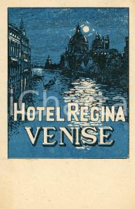 1923 VENEZIA Hotel Regina - Cartolina ILLUSTRATA FP VG