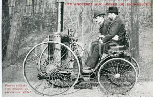 1930ca DE DION-BOUTON Premier véhicule avec transmission par courroie CARTOLINA