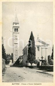 1940 BUTTRIO (UD) Chiesa e nuovo campanile - Cartolina FP VG