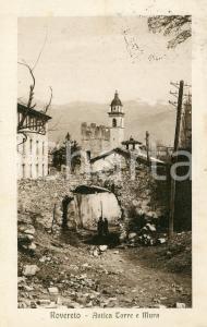 1924 ROVERETO (TN) Antica torre e mura - Cartolina ANIMATA FP VG