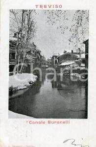 1900 TREVISO Canale Buranelli - Cartolina FP VG
