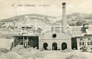 1911 IGLESIAS - MONTEPONI La miniera - Cartolina ANIMATA FP VG