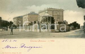 1900 LIVORNO Quartiere ARDENZA - Cartolina ANIMATA FP VG
