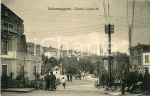 1910 ca SALSOMAGGIORE TERME (PR) Piazza Cavallotti - Cartolina ANIMATA FP NV