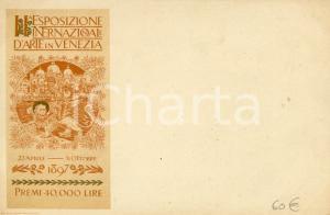 1897 VENEZIA II^ Esposizione Internazionale d'Arte - Cartolina ILLUSTRATA FP NV