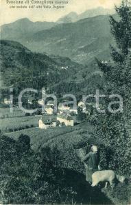 1932 COMEGLIANS Frazione POVOLARO Veduta dell'ALTA VAL DEGANO - Cartolina FP VG