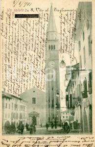 1901 SAN VITO AL TAGLIAMENTO (PN) Campanile monumentale - Cartolina FP VG
