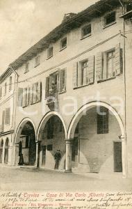 1907 TREVISO Casa di Via Carlo Alberto - Cartolina ANIMATA FP VG