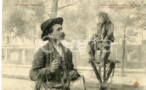 1910 ca FRANCE Monsieur Joko le singe savant - Cartolina ANIMATA FP NV