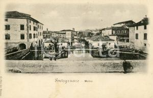 1900 PORTOGRUARO (VE) Molino - Cartolina ANIMATA FP VG