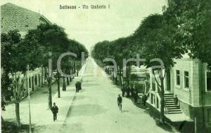 1925 LATISANA (UD) Via Umberto I - Cartolina ANIMATA FP VG
