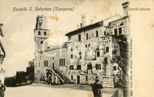 1920ca SUSEGANA (TV) Castello San Salvatore - Cortile interno - Cartolina FP NV