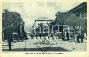 1924 LA SPEZIA Corpo Nazionale Giovani Esploratori - Cartolina ANIMATA FP VG