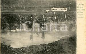 1910ca AGNANO - CAMPI FLEGREI Fanghiera e sorgente ipertermale - Cartolina FP NV