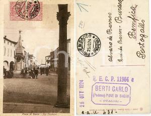 1920 PIOVE DI SACCO Via Cardano - Cartolina animata FP