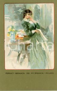 1920 ca MILANO Ditta FERNET-BRANCA Moda 1854 - Cartolina ILLUSTRATA FP NV