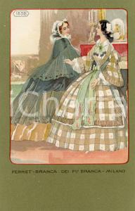 1920 ca MILANO Ditta FERNET-BRANCA Moda 1858  *Cartolina ILLUSTRATA FP NV