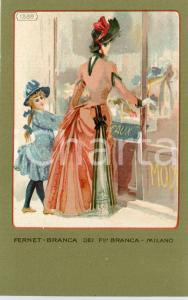 1920 ca MILANO Ditta FERNET-BRANCA Moda 1886 *Cartolina ILLUSTRATA FP NV