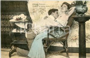 1910 ca EROTICA  VINTAGE Incontro tra due amanti - Cartolina postale FP NV