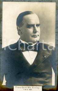 1889 USA President William McKINLEY Portrait - Postcard FP NV