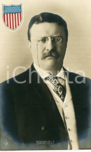 1910 ca USA President Theodore ROOSEVELT Portrait - Postcard FP NV