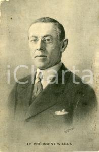 1910 ca USA President Thomas Woodrow WILSON Portrait - Postcard FP NV