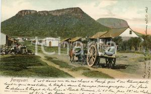 1900 ca PARAGUARÍ (PARAGUAY) Farmer - View of the town - Postcard FP NV