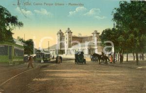 1911 MONTEVIDEO URUGUAY Hotel Casino Parque Urbano - Cartolina ANIMATA tram auto