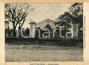 1900 ca NUEVA HELVECIA (URUGUAY) Escuela publica - Cartolina ANIMATA NV