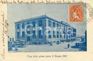 1907 MONTEVIDEO (URUGUAY) Scuola Italiana Società Riunite - Posa prima pietra